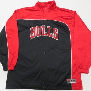 Nike Chicago Bulls Vintage Warm Up Jacket Mens XXL